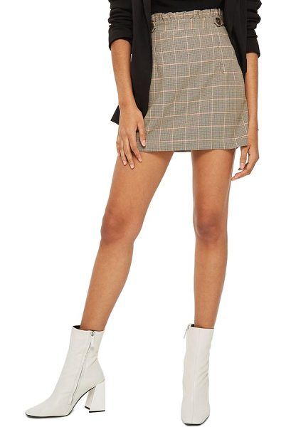 TOPSHOP frill edge heritage check skirt - A heritage-check pattern gives this ruffle-waist miniskirt...