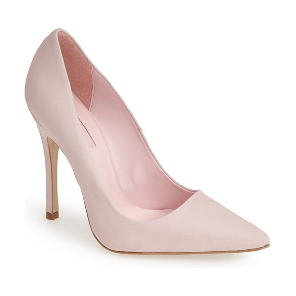 TOPSHOP gallop pointy toe leather pump - A pointy-toe silhouette lends timeless elegance to an...
