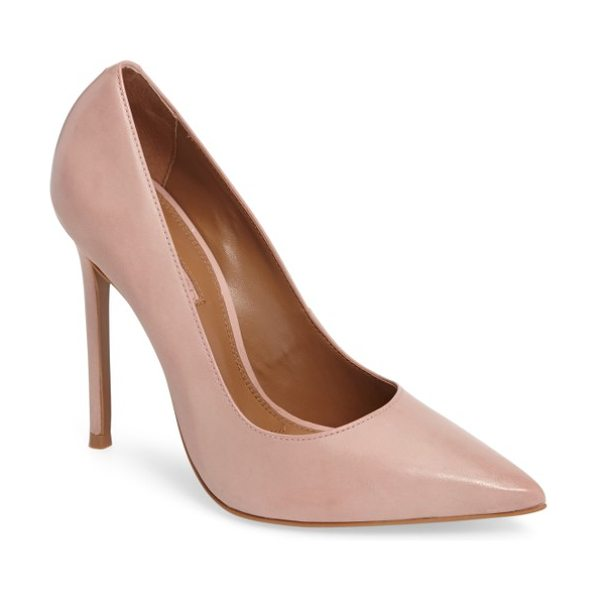 TOPSHOP gamble pointy toe pump in pink - Elevate your look with the eye-catching sophistication...