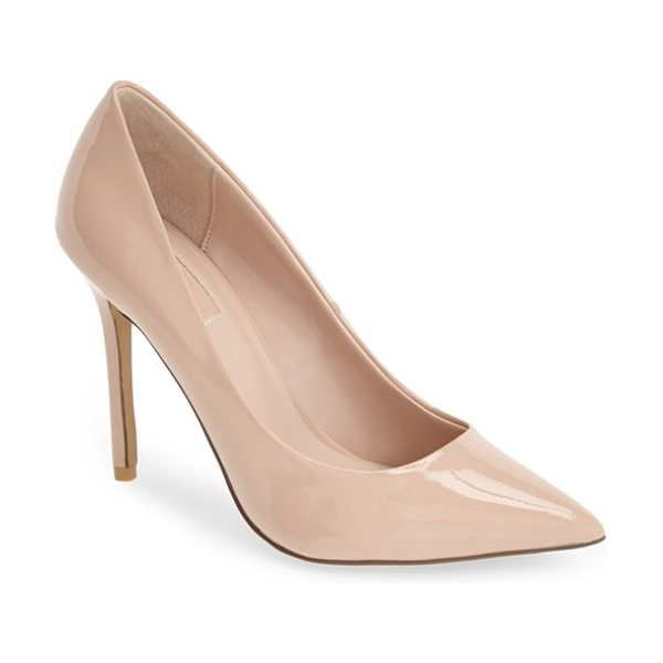 Topshop gemini2 snake effect pointy toe pump in beige - Not your run-of-the-mill snakeskin-embossed shoe, this...