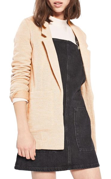 TOPSHOP 'george' open jersey boyfriend blazer - Strike a balance between smart and casual in a boyfriend...