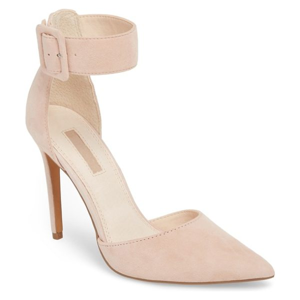 Topshop grace ankle strap pump in nude - A wide ankle strap refreshes a fun but sophisticated...