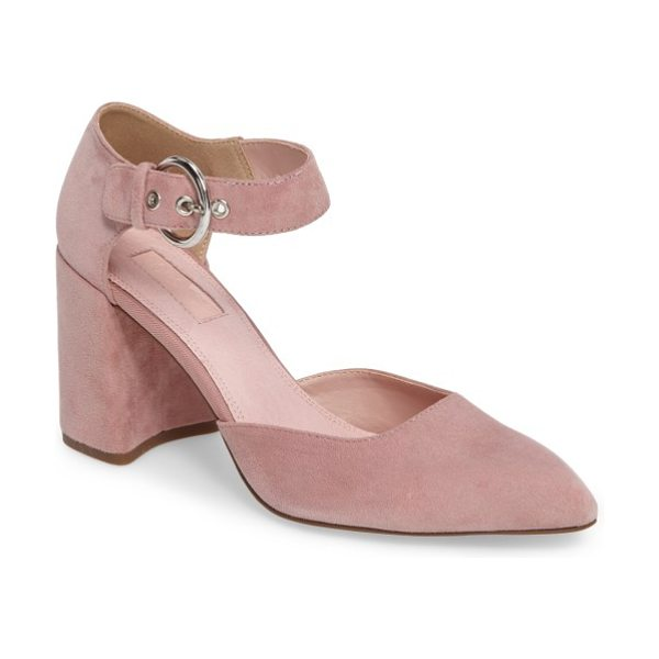 Topshop gradual d'orsay pump in pink - A wide ankle strap and bold block heel provide striking...
