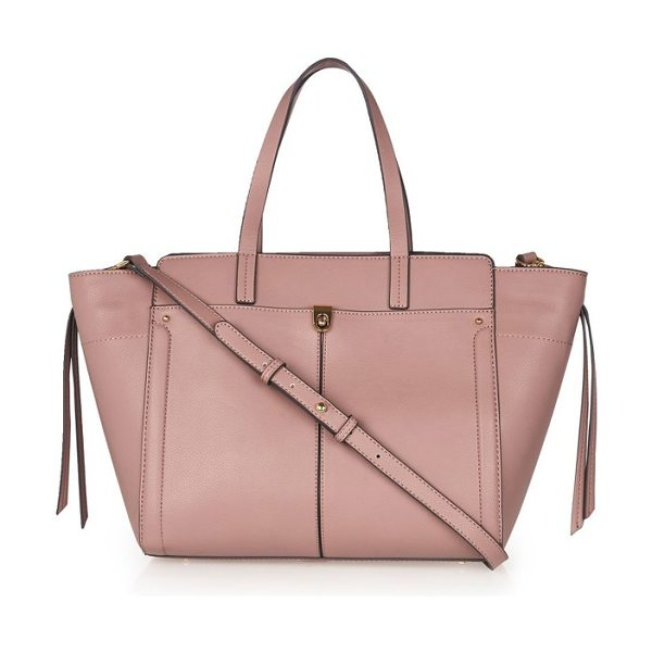 TOPSHOP harlow winged faux leather satchel - Stay organized from the office to dinner to whatever...
