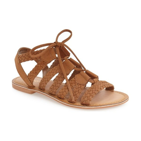 Topshop hiccup ghillie sandal in tan - Woven leather straps and thin laces define a trend-right...