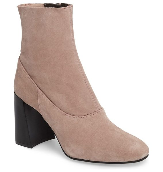 Topshop holi sock bootie in blush - Add a bit of Mod attitude to your look with this...