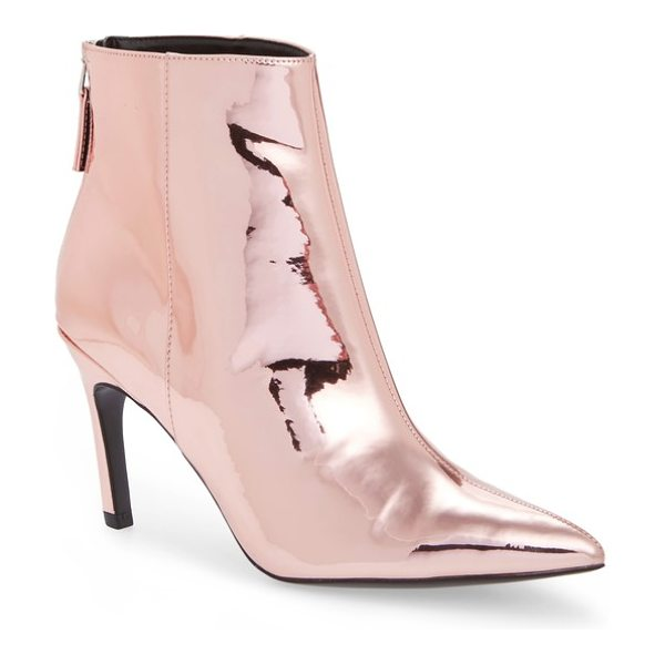 Topshop hoopla broken heel bootie in rose gold - A dramatically pointy toe furthers the confident...