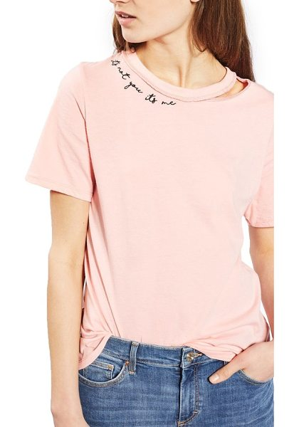 Topshop it's not me slash tee in pink - Let them down easy in this relaxed tee made with a...