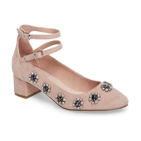 Topshop jaida crystal embellished pump in nude - Glitzy faceted crystals further the ladylike charm of a...
