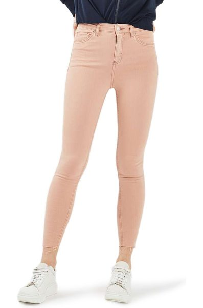 Topshop jamie raw hem skinny jeans in dusky pink - Ankle-length raw hems complete the unapologetically...