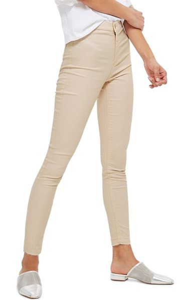 Topshop joni shimmer skinny jeans in light pink - Pastel skinny jeans have never looked sweeter than with...