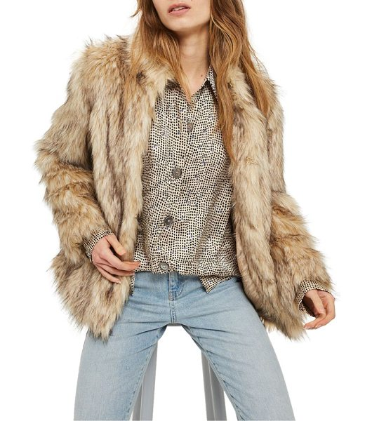 TOPSHOP kendall faux fur jacket - This lush, natural-looking faux fur jacket in a...