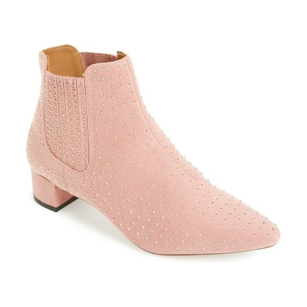 Topshop killer studded chelsea boot in pink - Electrify everything you wear with this standout,...