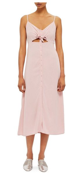 TOPSHOP knot front slipdress - Master the art of warm-weather dressing with this...