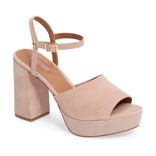 Topshop lava platform sandal in nude - A rocker platform and a flared block heel give...