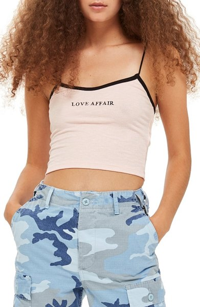 Topshop love affair crop camisole in pink - Don't hold back-it's time for a cropped camisole that...