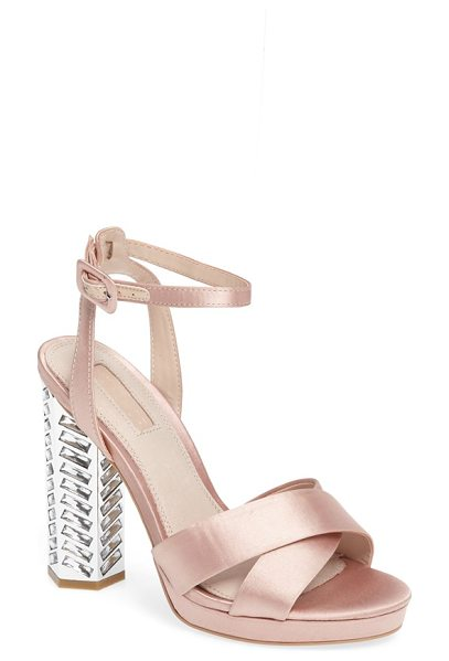 Topshop luna embellished sandal in nude - Satin straps crisscrossing at the toe and a slim ankle...