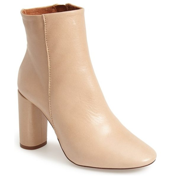 Topshop magnum leather ankle boot in nude - Super sleek and chic, this refined ankle boot is crafted...