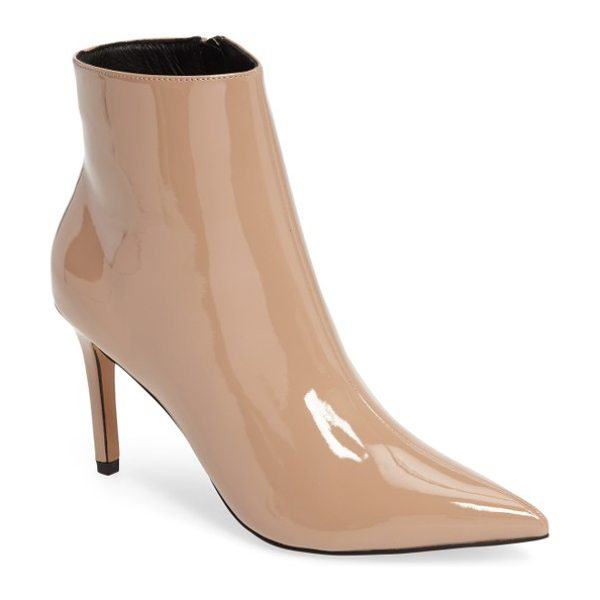Topshop mimosa pointy toe bootie in nude - Simplicity makes a statement with this sleek bootie that...