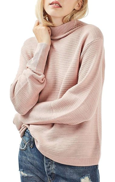 Topshop mixed stitch sweater in pink - Comfy-day looks just got softer with this...