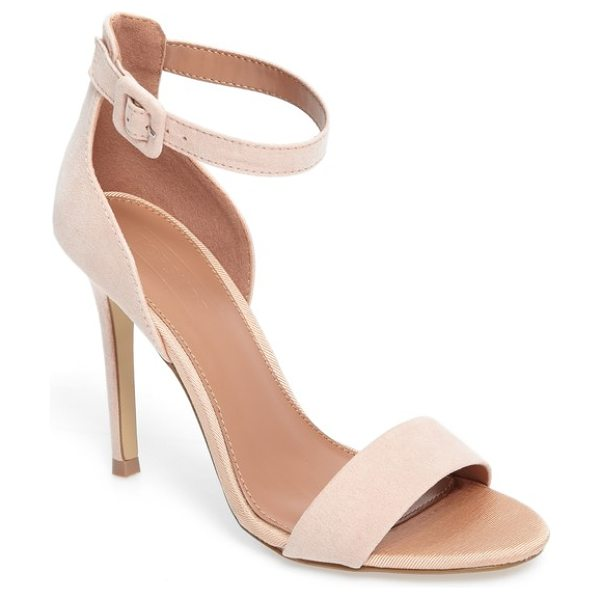 Topshop morgan sandal in nude - Soft texture highlights the elegant profile of these...