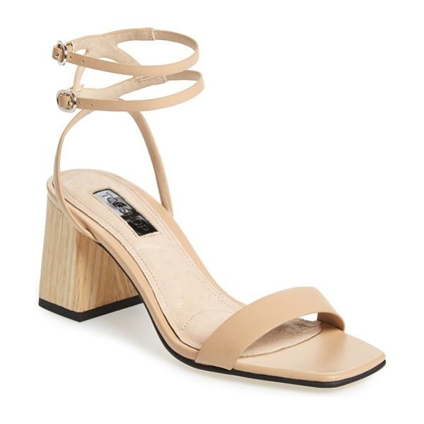 Topshop nipper ankle wrap sandal in camel - Barely there ankle straps crisscross the back of this...