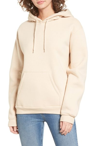 Topshop oversize hoodie in nude - The bigger, the cozier, the more carefree you'll be in...