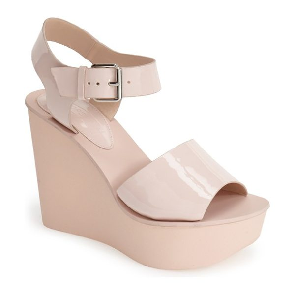 TOPSHOP platform wedge sandal in pink - Add a retro twist to any ensemble with a standout...