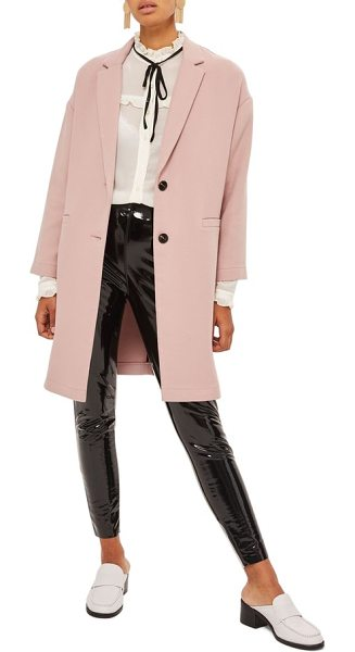 TOPSHOP ponte twill coat - Twill texture on smooth and stretchy ponte knit brings a...