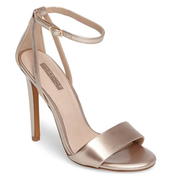 Topshop raphael new genuine calf hair sandal in pearly gold