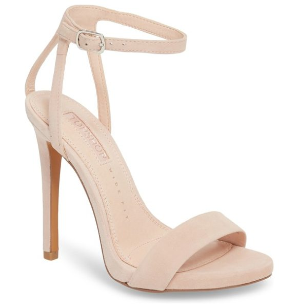 Topshop rapture tall sandal in nude - A minimalist strap and a low platform detail the toe of...