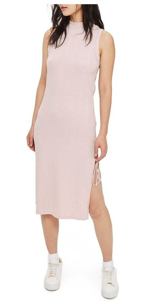 TOPSHOP ribbed tie slit midi dress - Seductive thigh slits are barely held together by thin...