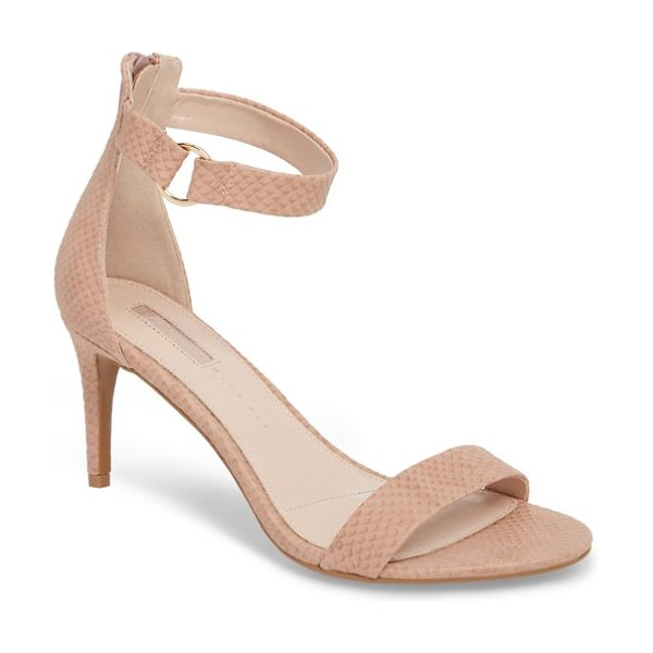 Topshop ringed sandal in nude - A polished metal ring adorns the ankle strap of a barely...