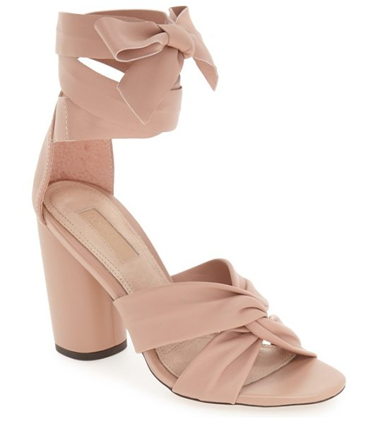 TOPSHOP 'rosetta' soft knot wraparound sandal in nude - Soft, intertwined leather straps define the toe of this...