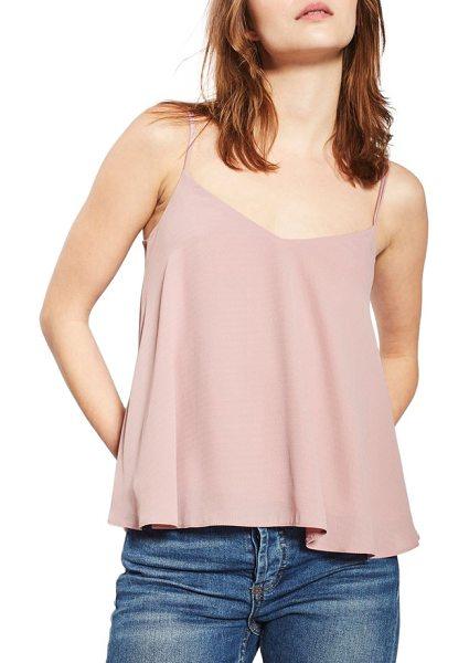 Topshop rouleau swing camisole in rose - Enticing thin straps sway from behind of the drapey,...