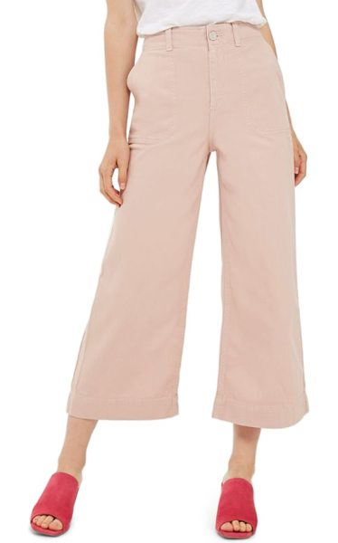 Topshop sailor crop trousers in light pink - A smart and sophisticated off-duty look is never too...