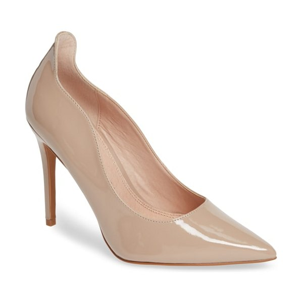 Topshop sammy court pump in nude - A curvy topline adds to the sultry style of a pointy-toe...