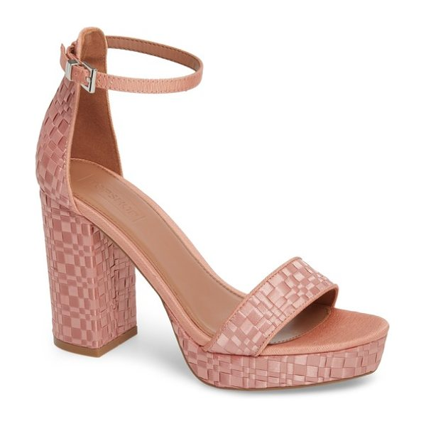 TOPSHOP sloane woven platform sandal - An intermittent weave brings trend-savvy pattern and...