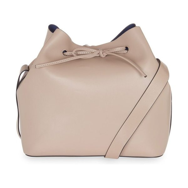 TOPSHOP stella faux leather bucket bag in nude - Toss whatever you need for the day in this soft faux...