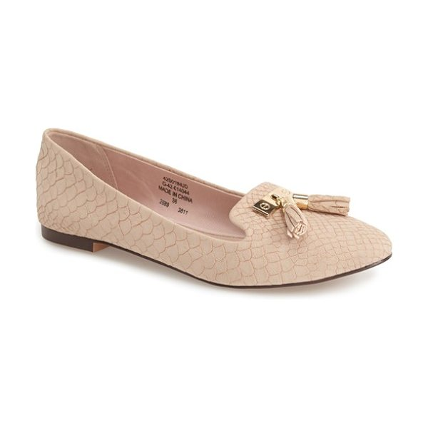 Topshop sugar tassel loafer in nude - Gilded hardware and a duo of tassels add a posh look to...