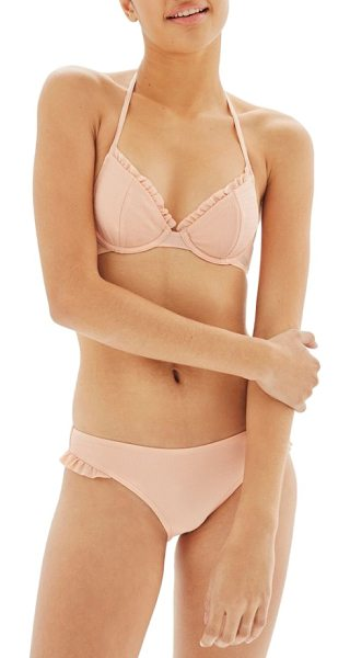 TOPSHOP textured frill bikini bottoms - Frilly ruffles tickle the legs in a low-slung bikini...