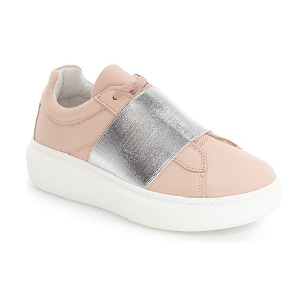 Topshop turin metallic strap platform sneaker in pink multi - An oversize statement strap crafted from metallic...