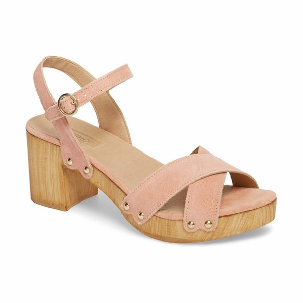 TOPSHOP valerie platform sandal - A woodgrain platform sole and chunky block heel heighten...