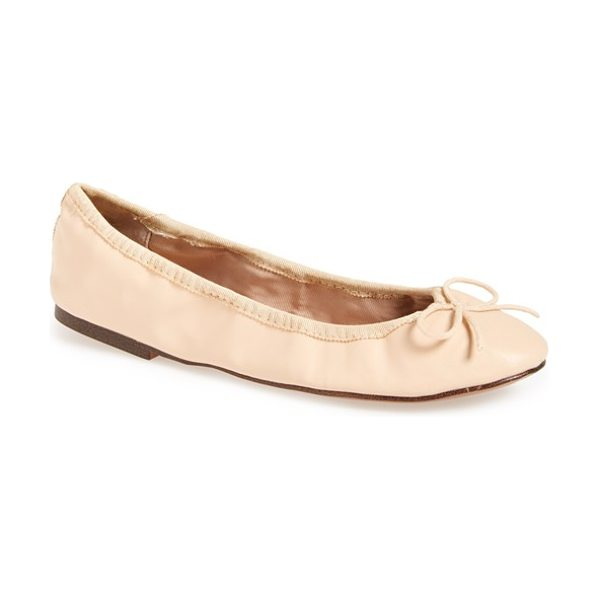 Topshop venti ballet flat in nude - An elasticized topline perfects the fit of a carefree,...