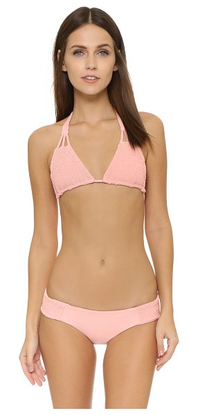 TORI PRAVER SWIMWEAR Daisy bikini top - A charming Tori Praver Swimwear string bikini top with...