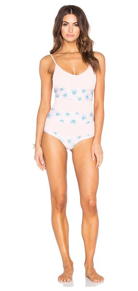 Tori Praver Swimwear Todo Santos Swimsuit in pink - 80% nylon 20% lycra. Hand wash cold. Elastic stretch...