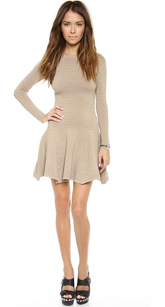 Torn by Ronny Kobo Amanda dress in beige - This Torn by Ronny Kobo dress cuts a playful fit and...