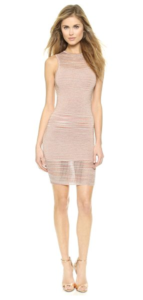Torn by Ronny Kobo Ambrosia space dye dress in blush - Sheer eyelet panels add a sexy touch to this formfitting...