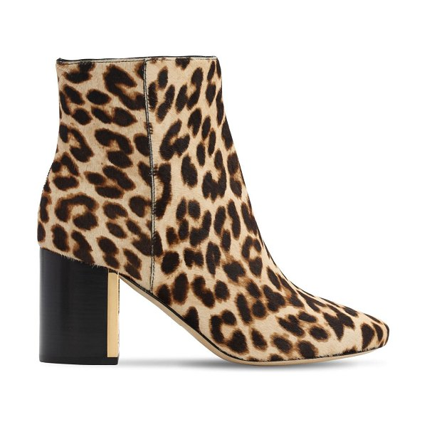 Tory Burch 70mm gigi printed pony skin ankle boots in leopard