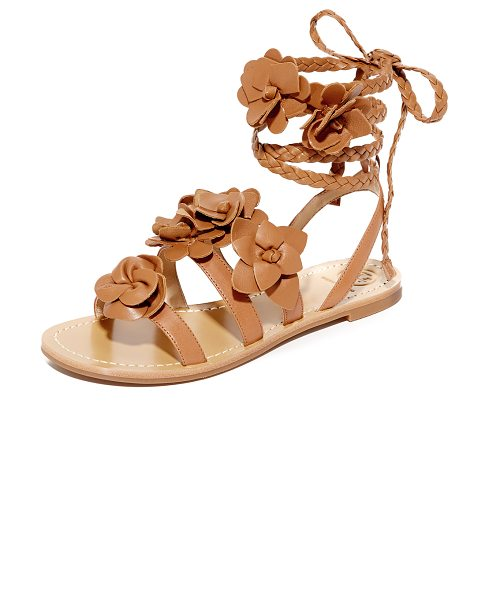 Tory Burch Blossom gladiator sandals in royal tan